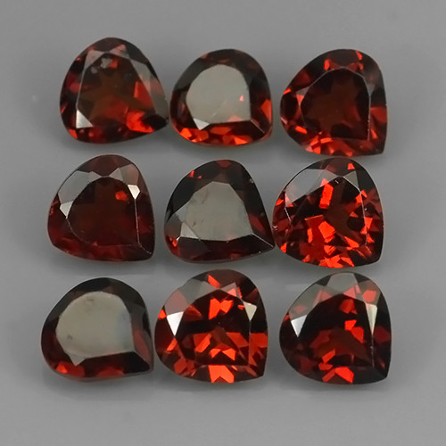 7.55 CTS~EXQUISITE NATURAL UNHEATED ORANGE RED COLOR RHODOLITE GARNET!!