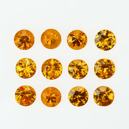 3.10Ct Natural Fanta Orange Spessartite garnet round 3.50mm Parcel Namibia