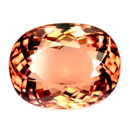 11.62 Cts Sizzling Natural Tourmaline Orange Oval Mozambique