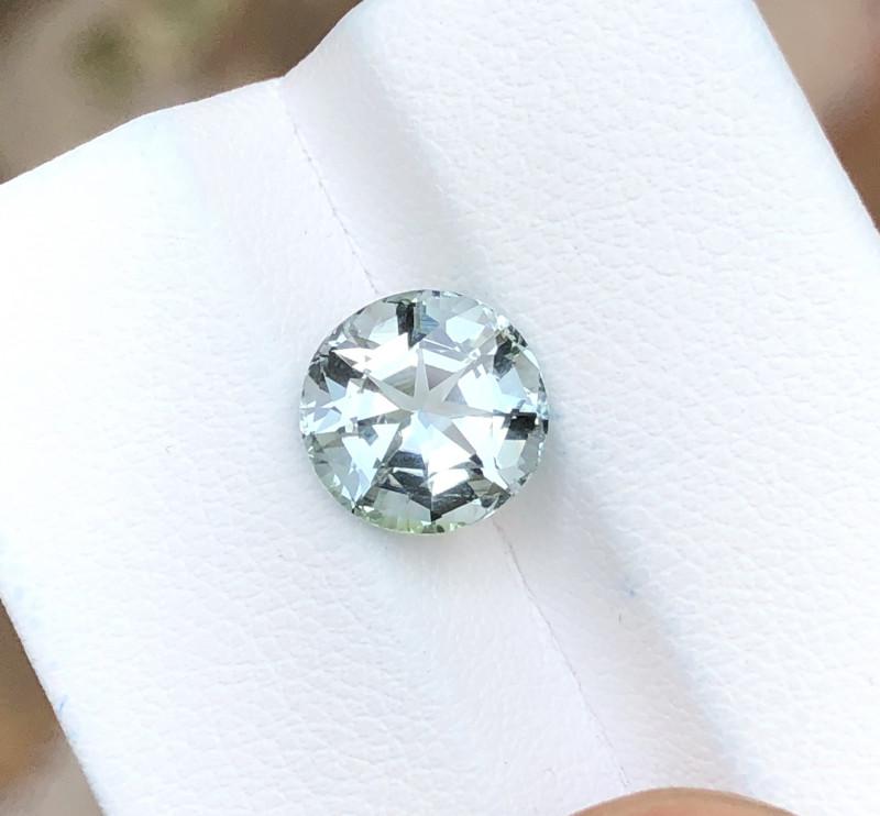 2.40 Ct Natural Gray Blueish Transparent Tourmaline Gemstone