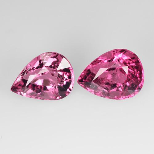 4.11 Cts Natural Sweet Pink Tourmaline Pear Cut 2 Pcs Mozambique Gem