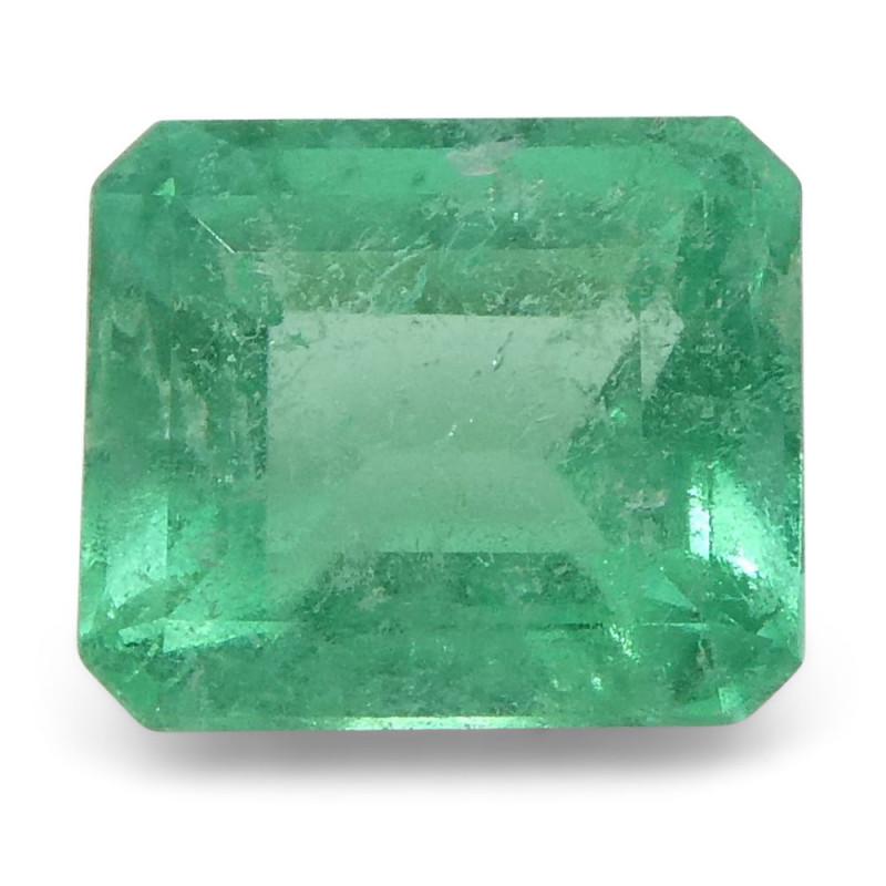 0.58 ct Emerald Cut Emerald Colombian
