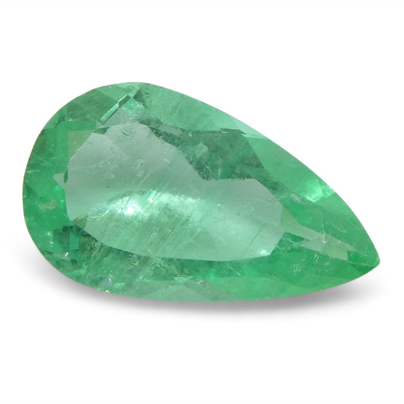 0.81 ct Pear Emerald Colombian