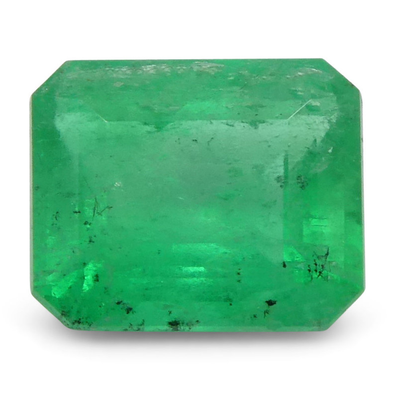 0.76 ct Emerald Cut Emerald Colombian