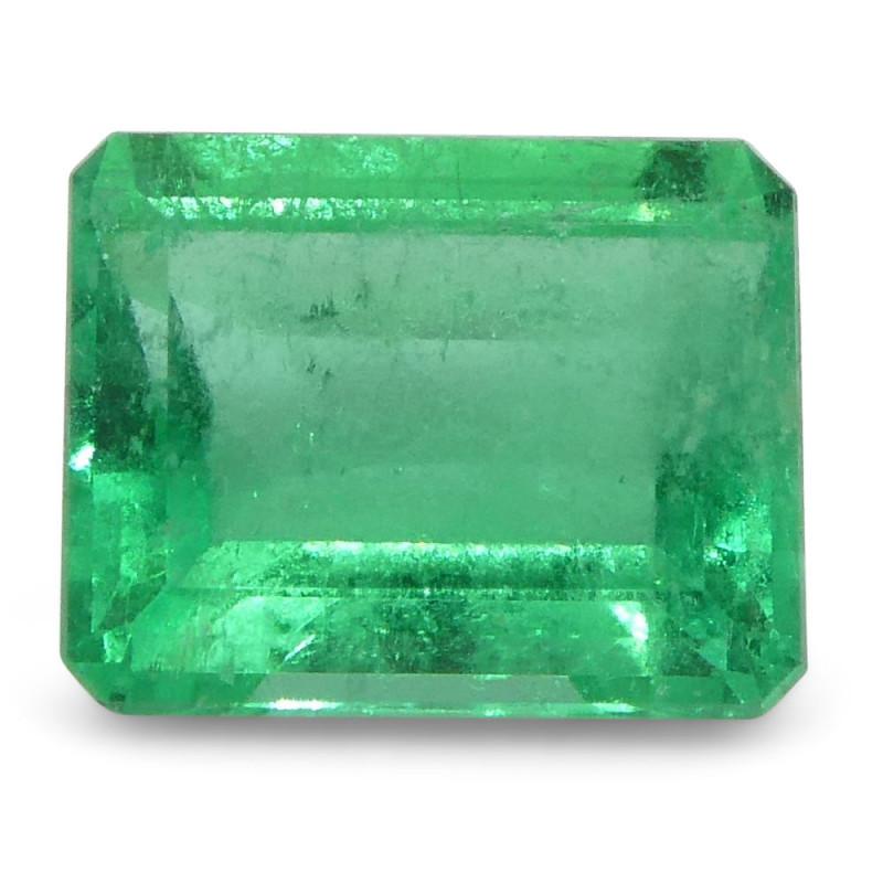 0.6 ct Emerald Cut Emerald Colombian