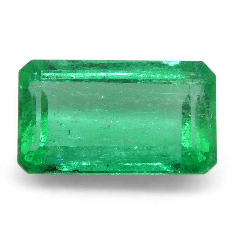 0.53 ct Emerald Cut Emerald Colombian