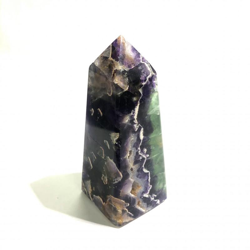 brazilian fluorite terminated crystal point