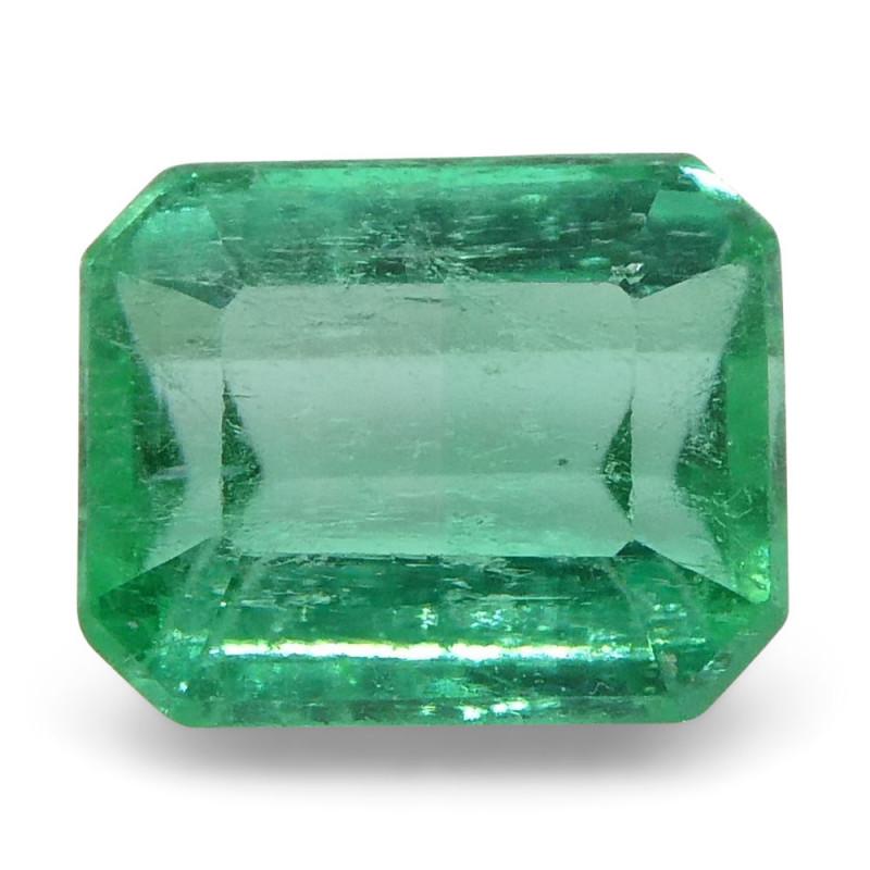 0.55 ct Emerald Cut Emerald Colombian