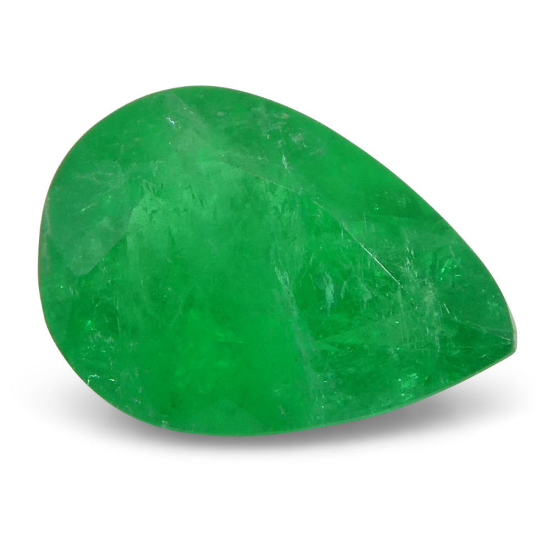 0.9 ct Pear Emerald Colombian
