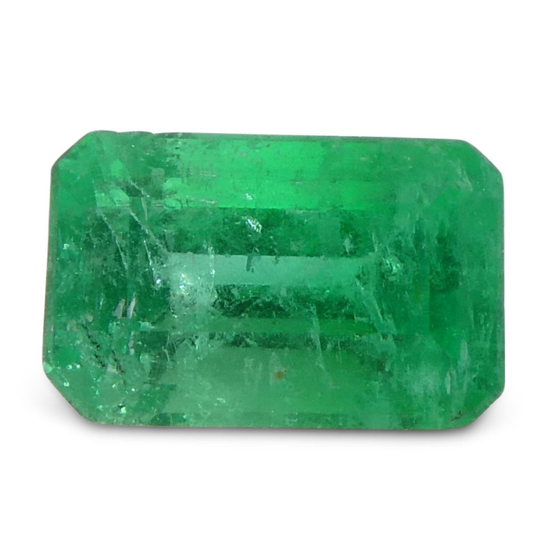 0.43 ct Emerald Cut Emerald Colombian
