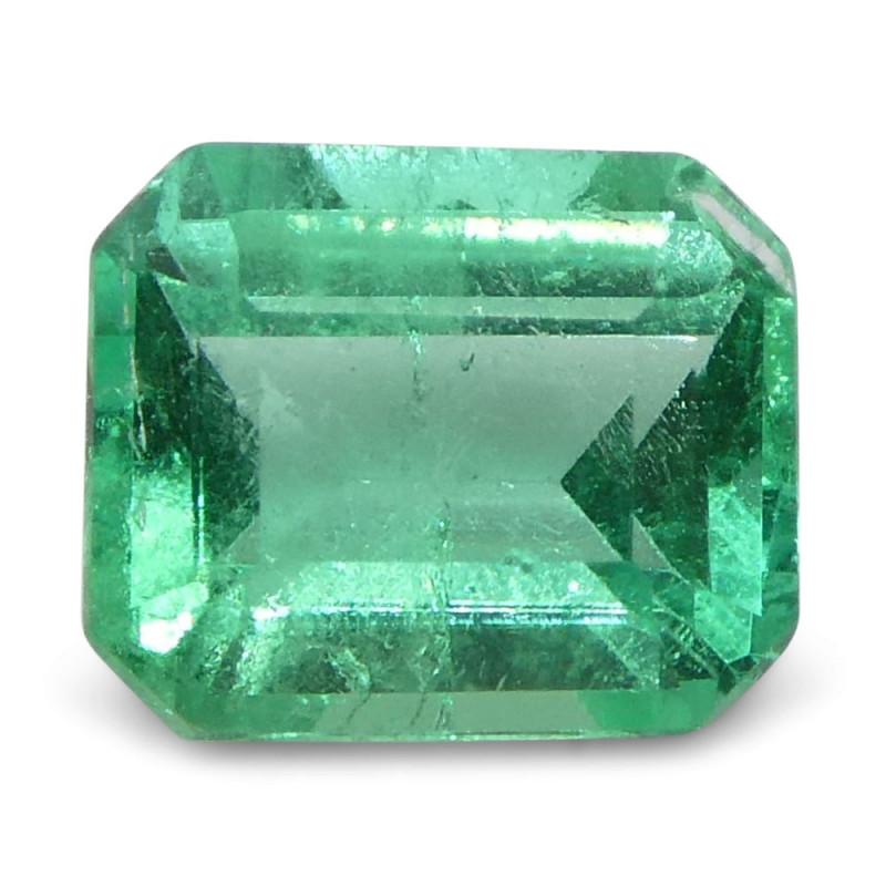 0.49 ct Emerald Cut Emerald Colombian