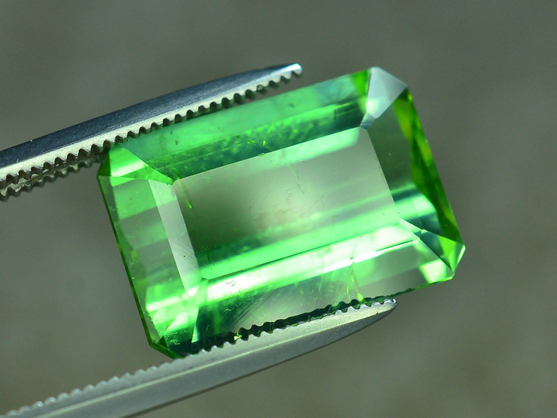 Top Grade 6.90 ct Lagoon Green Tourmaline Afghanistan