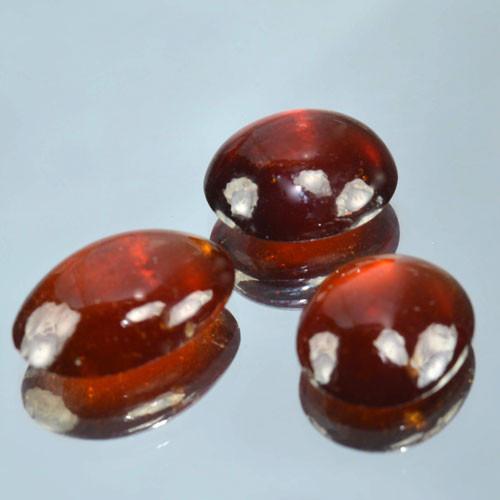 20.41 Cts Natural Red Hessonite Garnet Oval Cabochon Gem