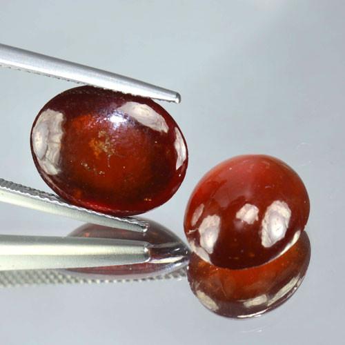 15.69 Cts Natural Red Hessonite Garnet Oval Cabochon Gem
