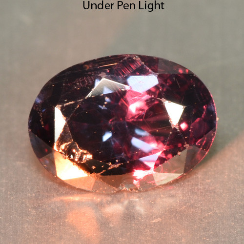 Certified 0.87 Cts Natural Color Change  Garnet Oval Cut Namibia