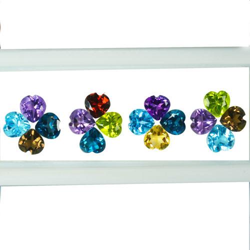 15.14Cts Natural Semi Precious Gemstones Heart 5mm Calibrated Parcel