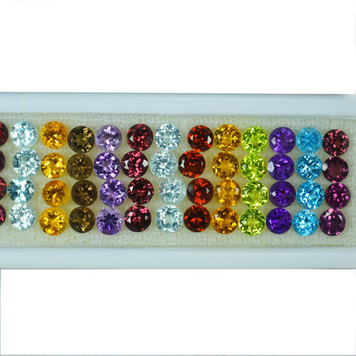 24.19Cts Natural Semi Precious Gemstones Round 4mm Calibrated Parcel