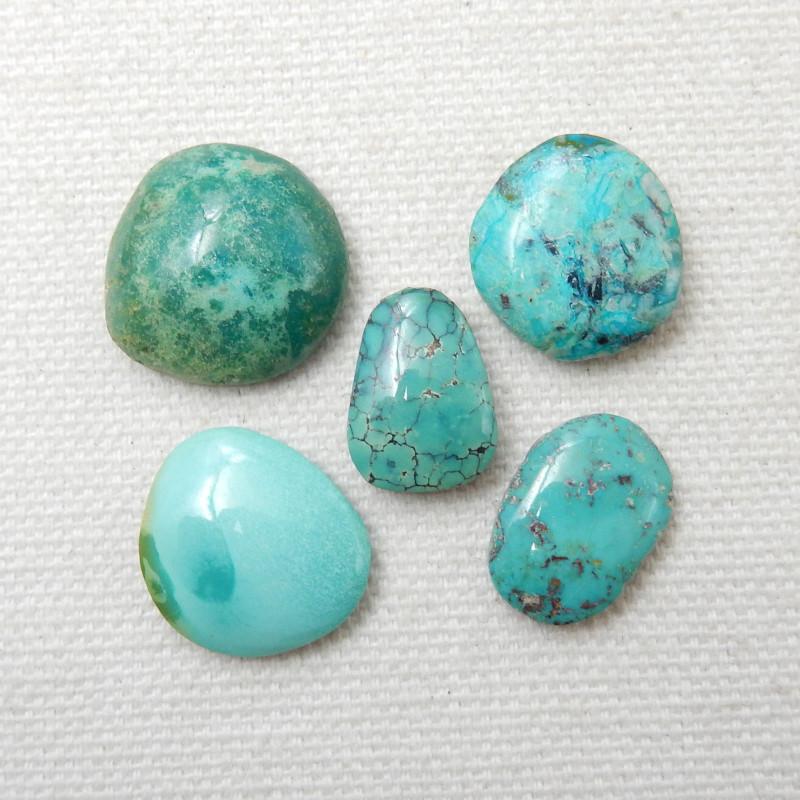 5pcs Turquoise Cabochons ,Handmade Gemstone ,Turquoise Cabochons E769