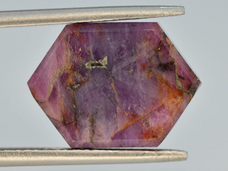 Rarest 8.50 ct Trapiche Pink Kashmir Sapphire ~ AD