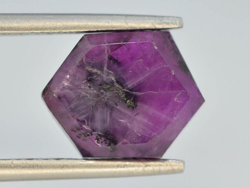 Rarest 4.65 ct Trapiche Pink Kashmir Sapphire ~ t