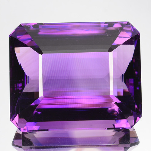 94.14 Cts Natural Purple Amethyst Octagon Cut Flawless Bolivia