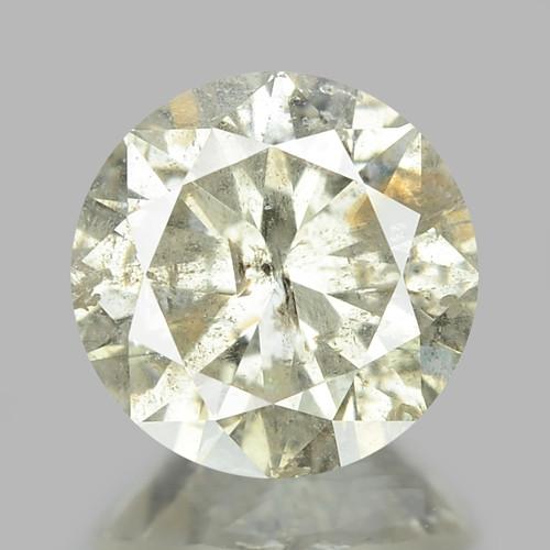 1.00 UNTREATED BROWNISH WHITE NATURAL LOOSE DIAMOND
