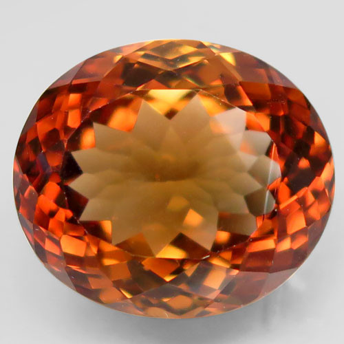 19.30 ct. Top Quality 100% Natural Topaz Orangey Brown Brazil