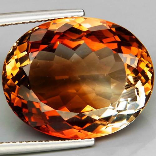 25.22 ct. Top Quality 100% Natural Topaz Orangey Brown Brazil