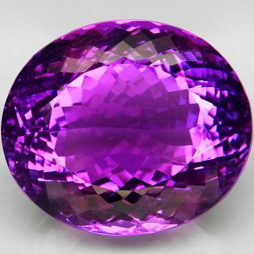 45.57 Ct.  Top Quality 100%   Natural Rich Purple Amethyst Uruguay  Unheate