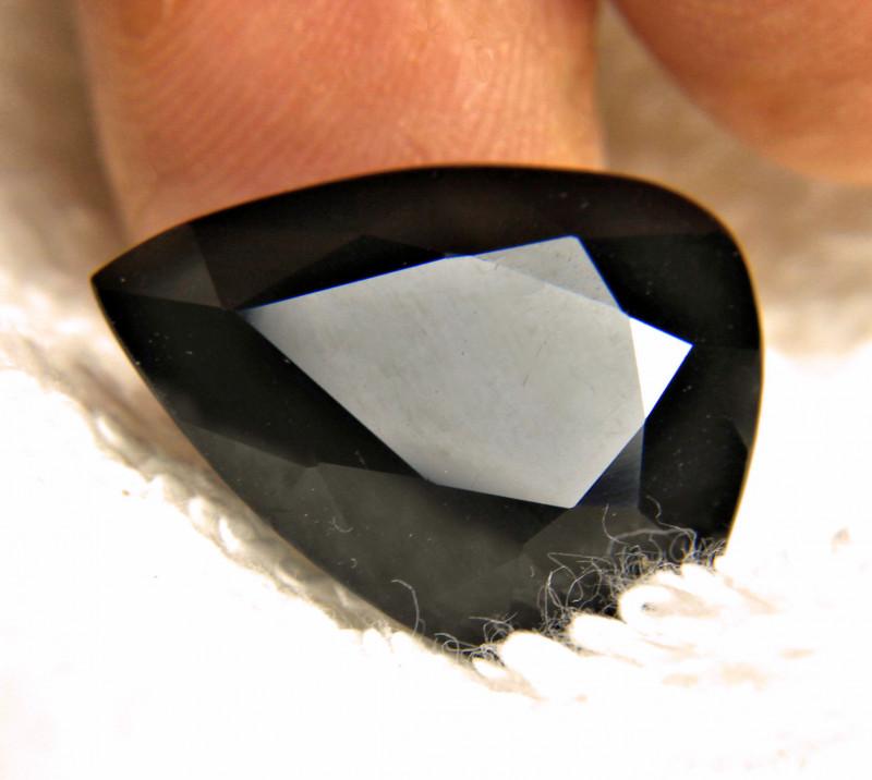 black tourmaline faceted pear cut