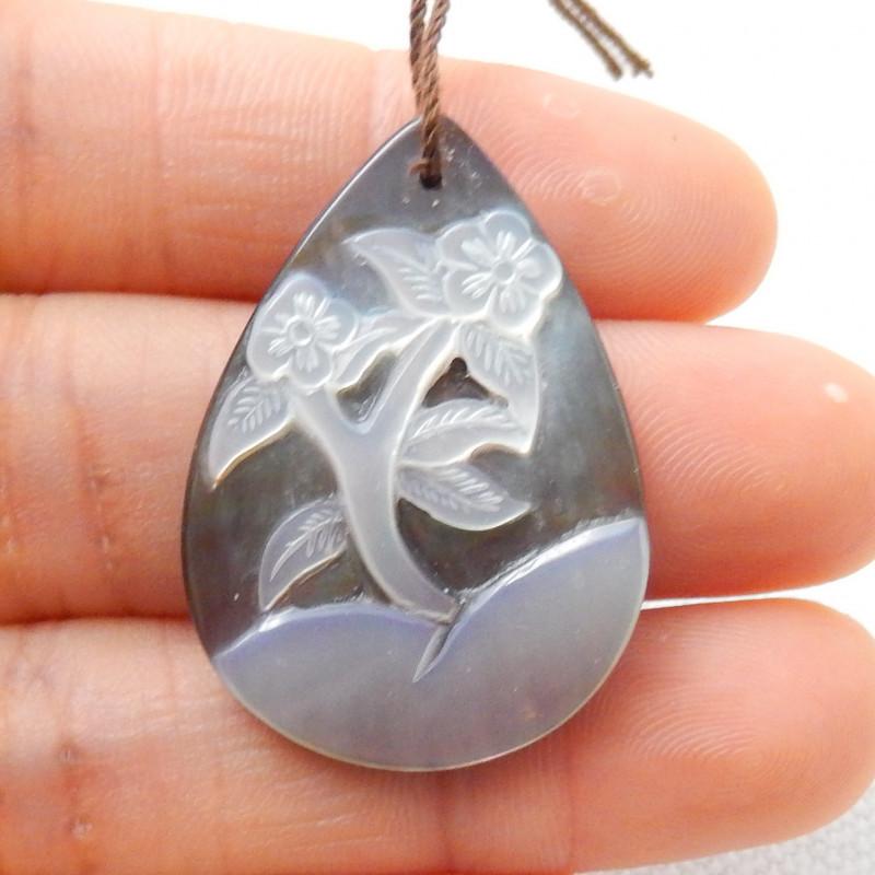 Fashion Shell Flower Pendant,Carved Flower Bead E840