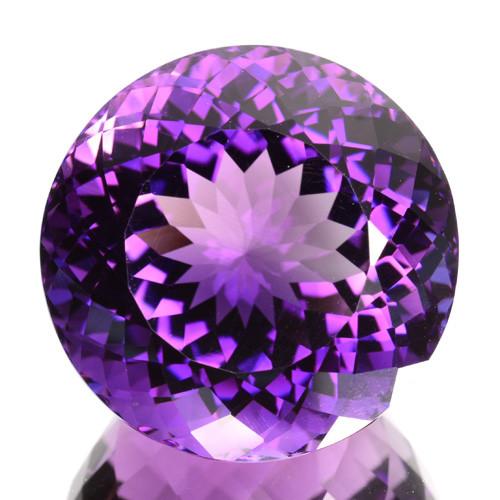 32.70 Cts Natural Purple Amethyst Round Bolivia Gem