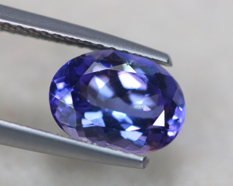 2.12ct Natural Violet Blue Tanzanite Oval Cut Lot P392