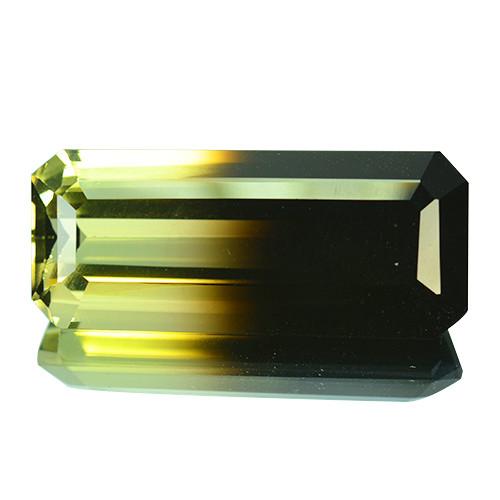 Dazzling!!!  28.64 Cts Natural Bi-Color Quartz Octagon Cut Brazil