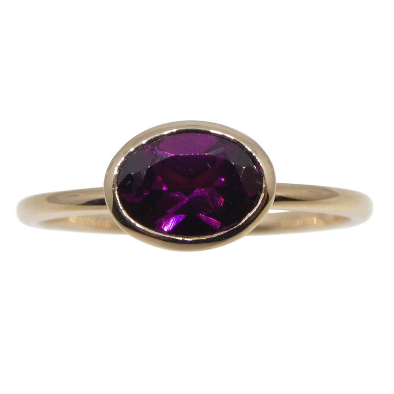 Rhodolite Garnet Stacker Ring set in 10kt Pink/Rose Gold