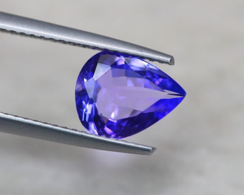1.87ct Natural Violet Blue Tanzanite Pear Cut Lot V5654