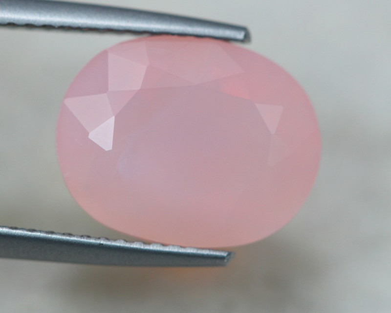 Peruvian Pink Opal Oval Cut Stone-Peruvian Pink Opal Cut Stones-Natural Peruvian Pink Opal Faceted Oval Cut Stones-10x8 MM-5 Pcs BSW14883