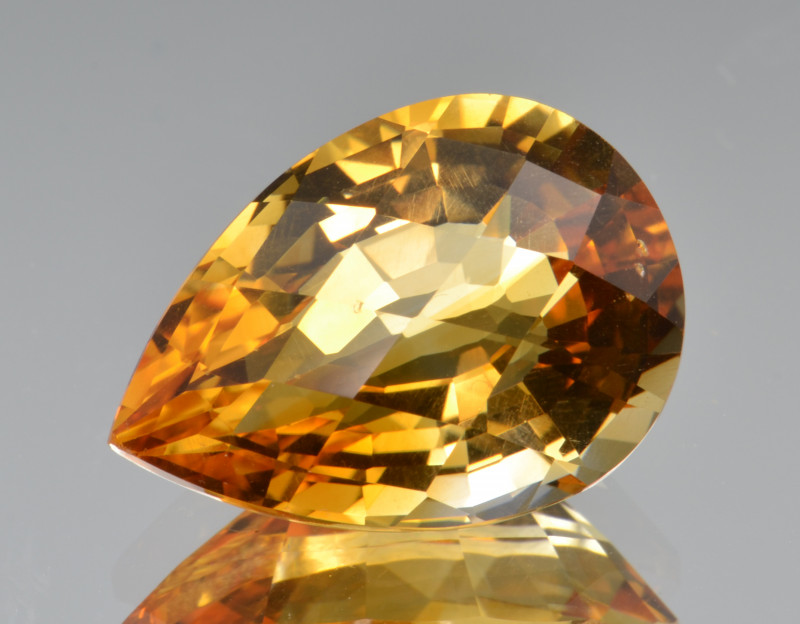 Natural Citrine 11.99 Cts Faceted Gemstone