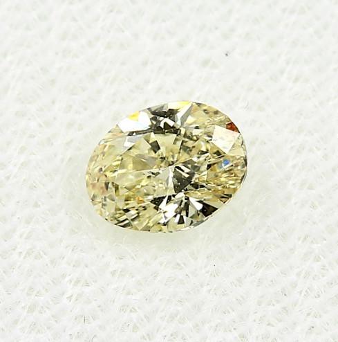 0.63ct Natural Diamond Fancy Intense Yellow Oval Diamond HRD  certified SI2