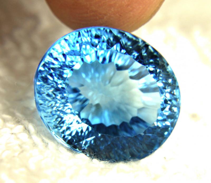 30.67 Carat Vibrant Blue Brazil VVS Topaz - Gorgeous