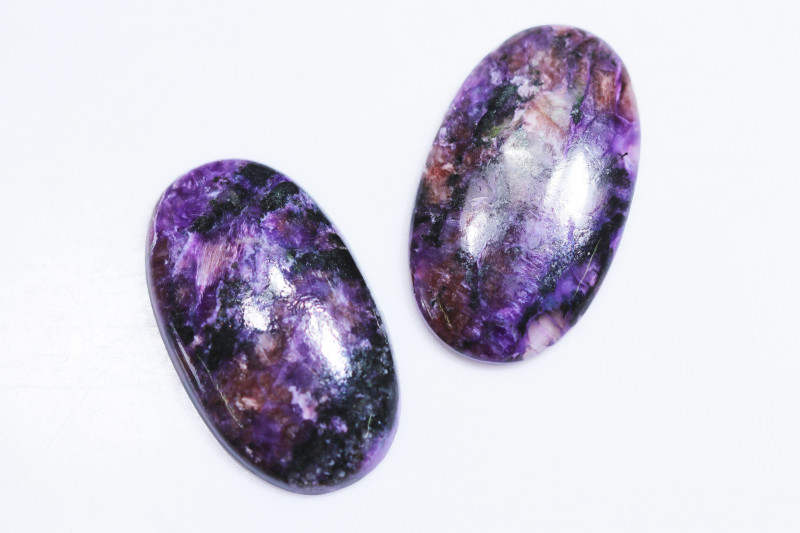 97 CTS PAIR CHAROITE  BR 2457
