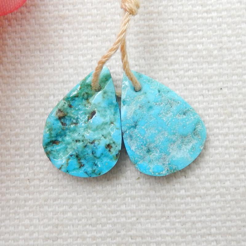 8cts Raw Turquoise Earrings,Handmade Gemstone ,Turquoise Earrings F70