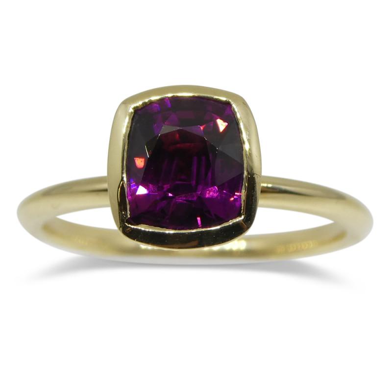 Rhodolite Garnet Stacker Ring set in 14kt Yellow Gold