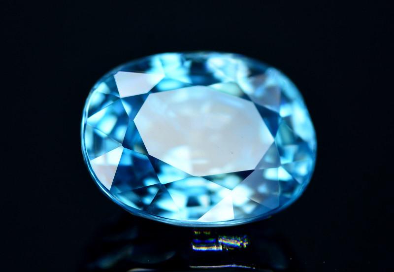 Vibrant Blue ~ 7.40 Ct Natural Zircon From Cambodia