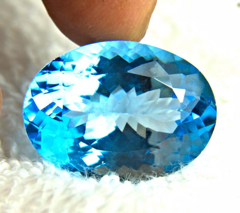 38.28 Carat Brazil Vibrant Blue VVS Topaz - Gorgeous