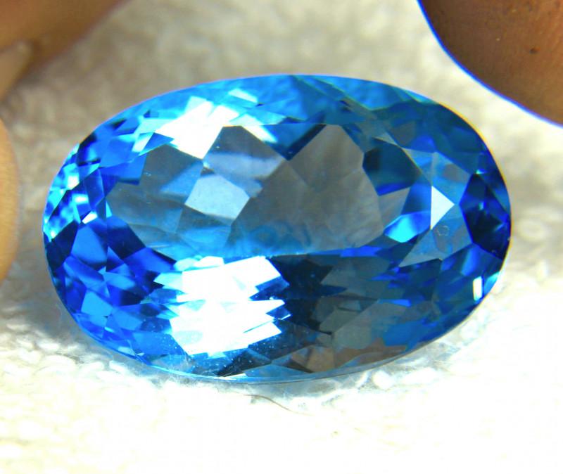 61.50 Ct. Brazilian Blue VVS Topaz - Gorgeous