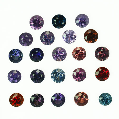 4.26 Cts Natural Fancy Spinel Multi-Color 3.5mm Round Cut 22Pcs
