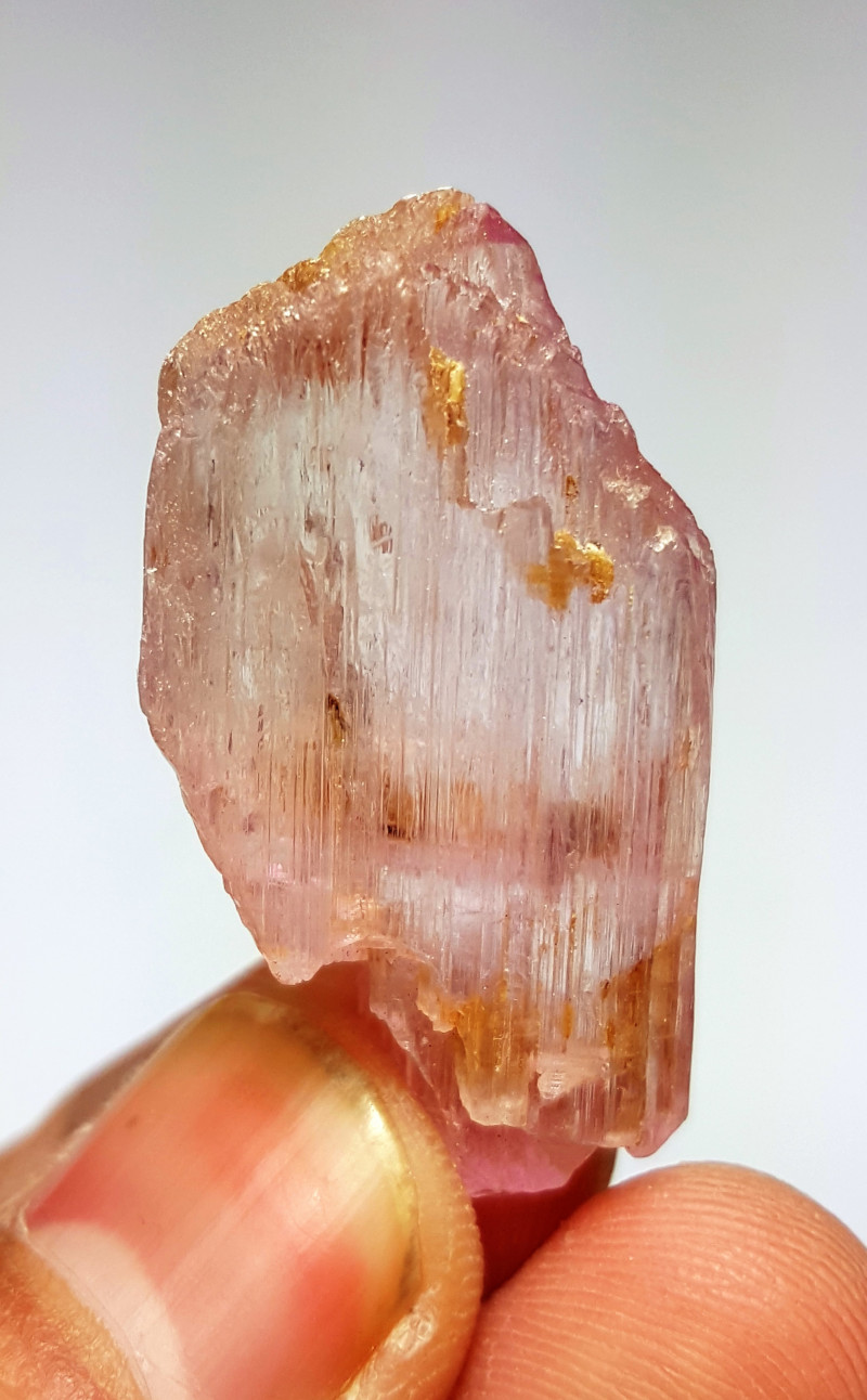 Amazing Natural Pink color damage free  Gemmy Kunzite crystal 50 Cts-A