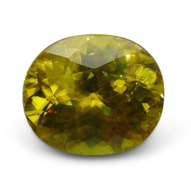 2.54 ct Oval Sphene (Titanite) CGL-GRS Certified