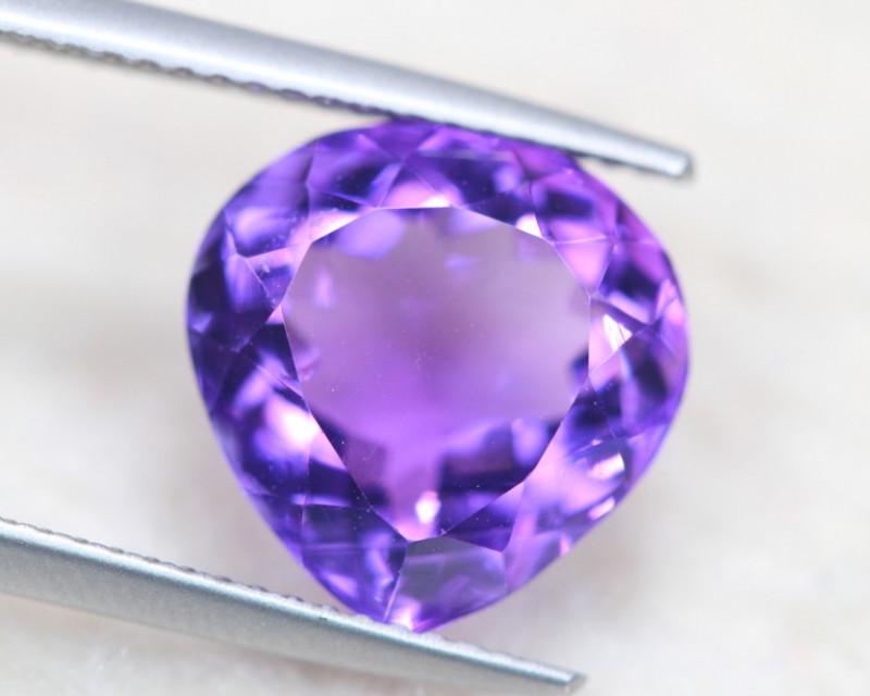 6.07Ct Natural Purple Amethyst Pear Cut Lot A1036
